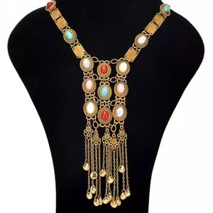 Hot Women Western Gold Indian Necklace 441